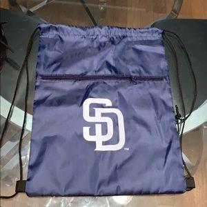 San Diego Padres shoe bag/back pack